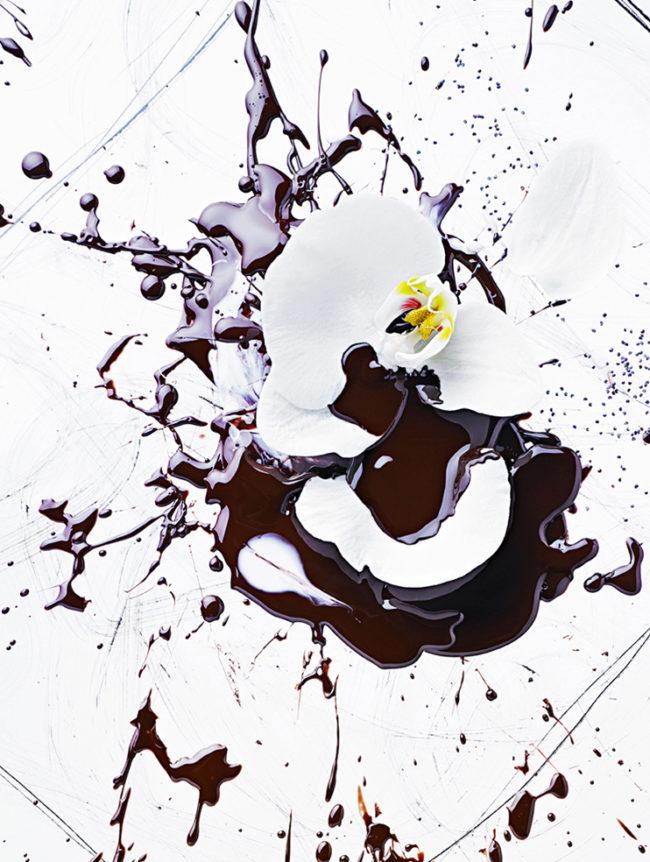 cosmetic food orchydée chocolatée