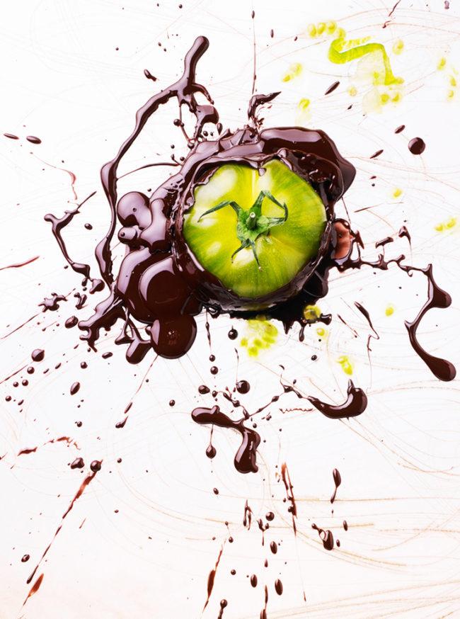 cosmetic food tomate verte chocolatee