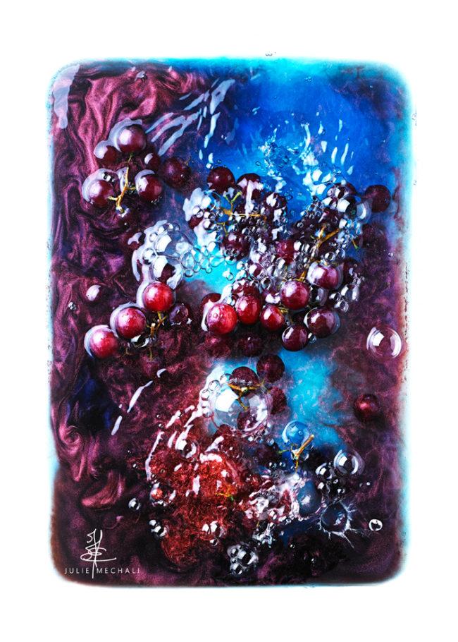 JM.bouillonnant abstrait liquide au raisin