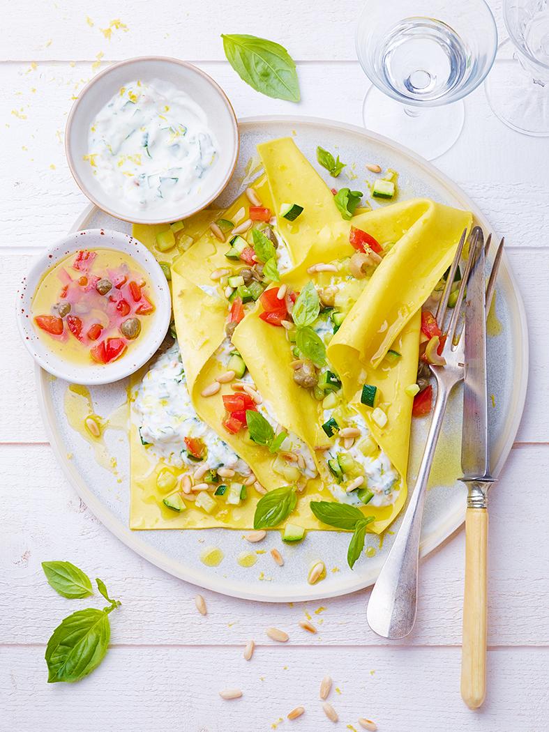 CNIEL FROMAGE BLANC raviole ete de lasagne au fromage blanc